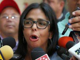 """imagen del contenido Delcy Rodríguez: """"Rechazamos las cobardes, insolentes e infames amenazas"""" de Trump contra Venezuela"""