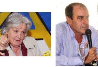 Óscar de los Santos y Lucía Topolansky no descartan un espacio político más amplio que el FA