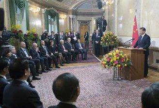 Presidente chino inaugura Foro de Davos