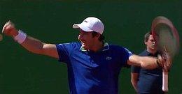 imagen del contenido ¡Uruguay nomá!: Bombazo de Cuevas, venció a Wawrinka y a cuartos de final en Monte Carlo