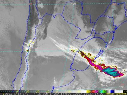 Alerta amarilla por vientos fuertes para el sur del país