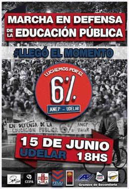 """imagen del contenido A las 18 horas comienza la """"Marcha en defensa de la Educación Pública"""" con el 6% como reivindicación"""