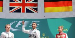imagen del contenido Hamilton ganó en Silverstone y quedó a un punto de Vettel en la pelea por el título