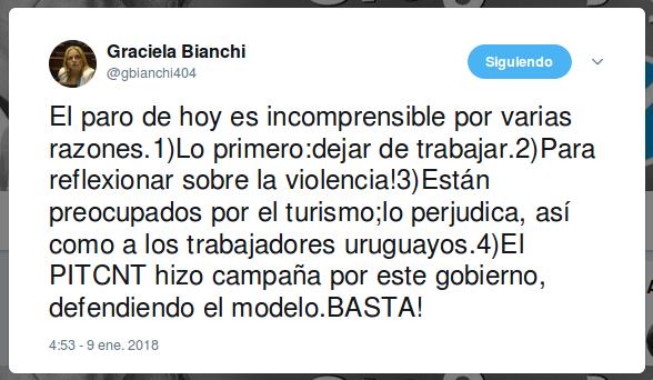 Graciela Bianchi paro 9 de enero