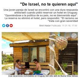 imagen del contenido Dos turistas israelíes fueron rechazados en un hospedaje de Valizas