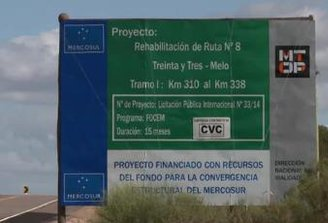 Fondos del Mercosur: Uruguay recibió U$S 284 millones para obras en rutas, saneamiento y vías férreas