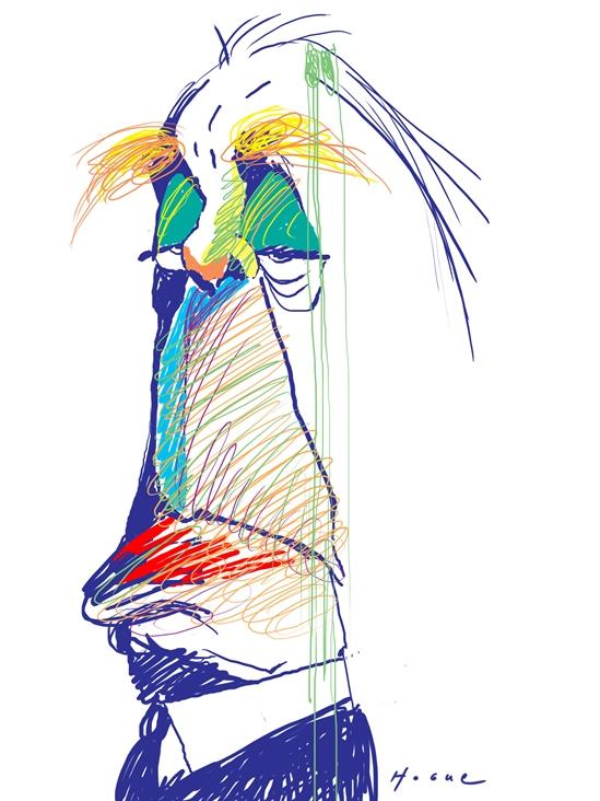 Borges visto por Hogue / imagen en ww.uypress.net