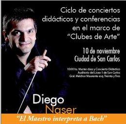 """imagen del contenido Diego Nasser en conciertos didácticos y conferencias: """"El Maestro interpreta a Bach"""""""