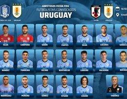 imagen del contenido AUF: Lista de 22 jugadores convocados por Tabárez para los amistosos ante Corea y Japón