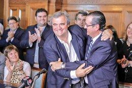 imagen del contenido Jorge Larrañaga obtiene el apoyo de un líder de peso y prestigio, Juan Andrés Ramírez