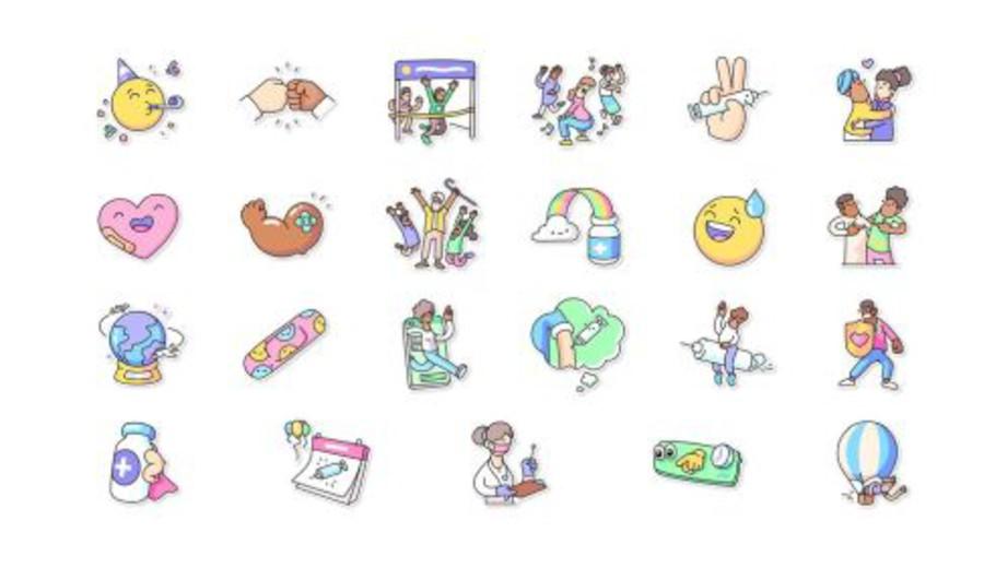 imagen de WhatsApp lanzó un nuevo paquete de stickers por el Día Mundial de la Salud