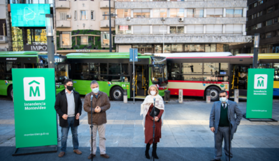 imagen de Montevideo: presentan 25 nuevas unidades de ómnibus híbridos