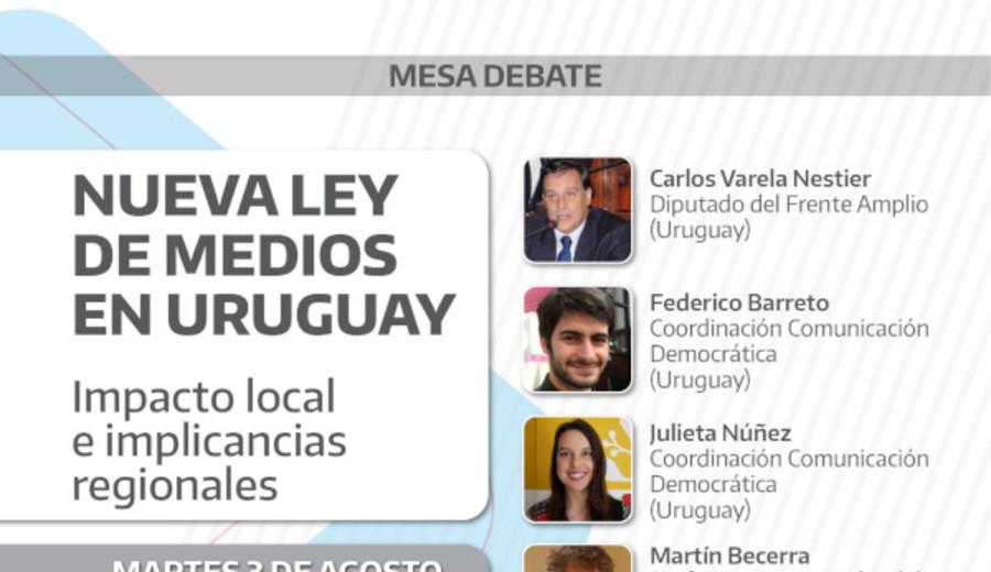 """imagen de Debate: """"Nueva ley de medios en Uruguay, impacto local e implicancias regionales"""""""