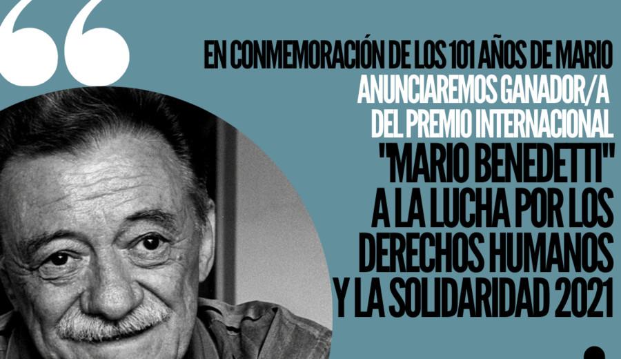 imagen de Fundación Mario Benedetti anunciará ganador del Premio a la Lucha por los DDHH y la Solidaridad