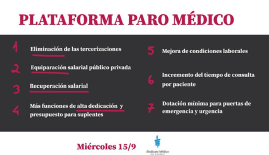 imagen de Presidenta del SMU, Zaida Arteta, sobre paro de hoy 15 de setiembre