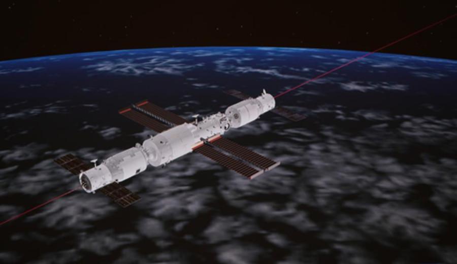 imagen de Nave de carga de China se acopla a módulo central de estación espacial